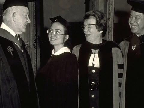 Hillary Rodham Wellesley graduation 1969